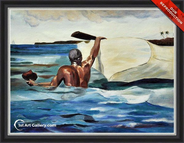 The Sponge Diver Painting by Winslow Homer - Oil Reproduction