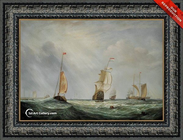 Helvoetsluys ships going out to sea Painting by Turner - Oil Reproduction