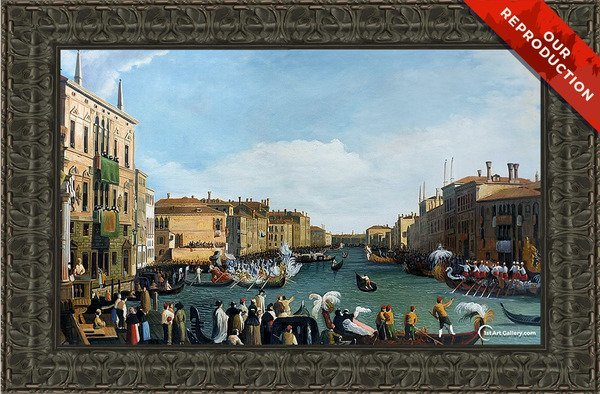 A Regatta on the Grand Canal Painting - Oil Reproduction