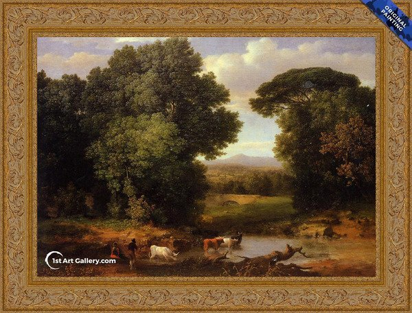 A Bit Of Roman Aqueduct Painting by George Inness - Original Painting