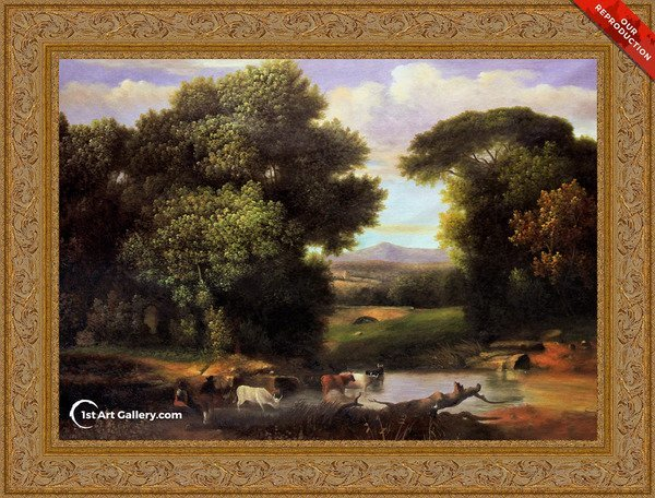 A Bit Of Roman Aqueduct Painting by George Inness - Oil Reproduction