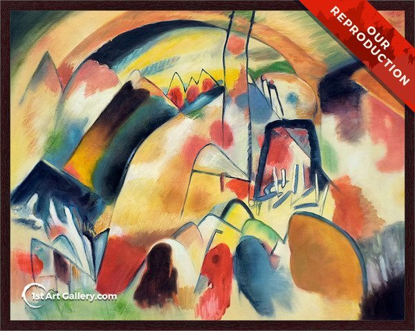 Landscape with Church Painting by Wassily Kandinsky - Oil Reproduction