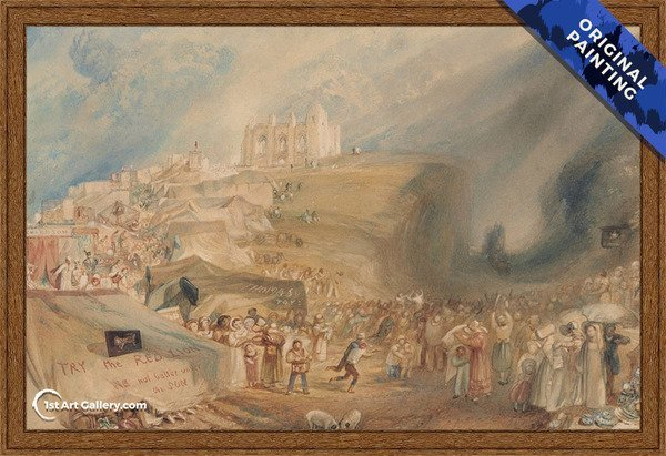 St. Catherines Hill, Guildford, Surrey Painting by Turner - Original Painting