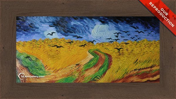 Wheat Field With Crows Painting by Van Gogh - Oil Reproduction