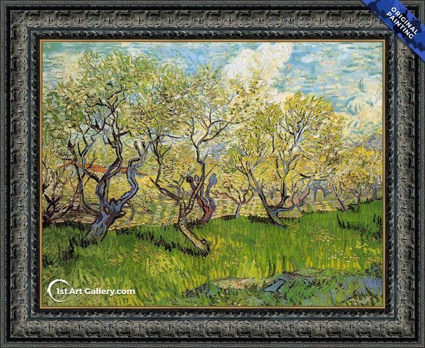 Orchard in Blossom I Painting by Van Gogh - Original Painting