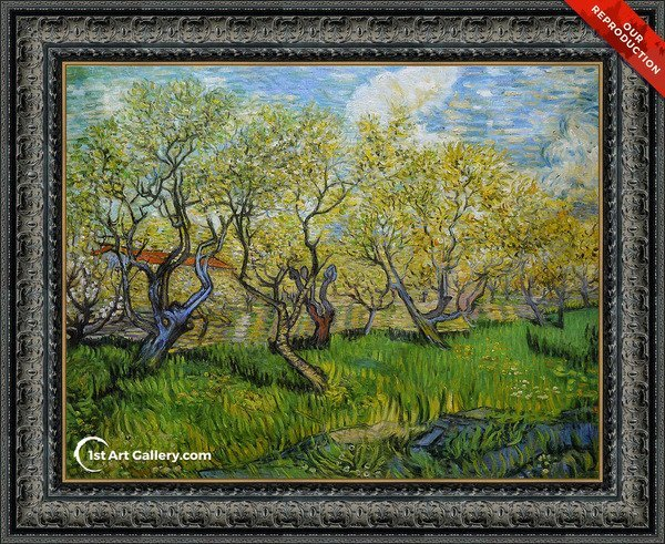 Orchard in Blossom I Painting by Van Gogh - Oil Reproduction