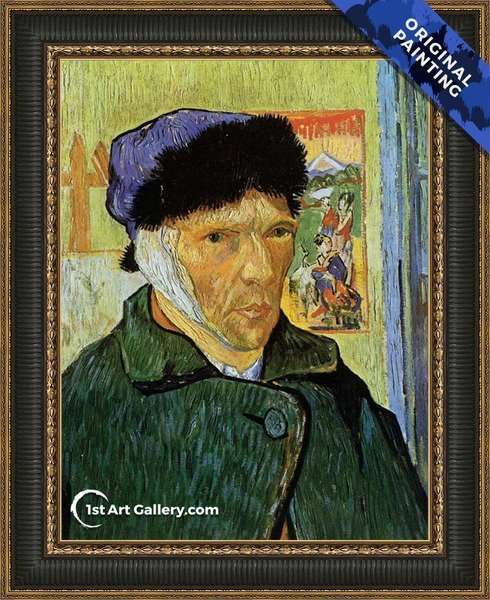 Self Portrait with Badaged Ear Painting by Vincent Van Gogh - Original Painting