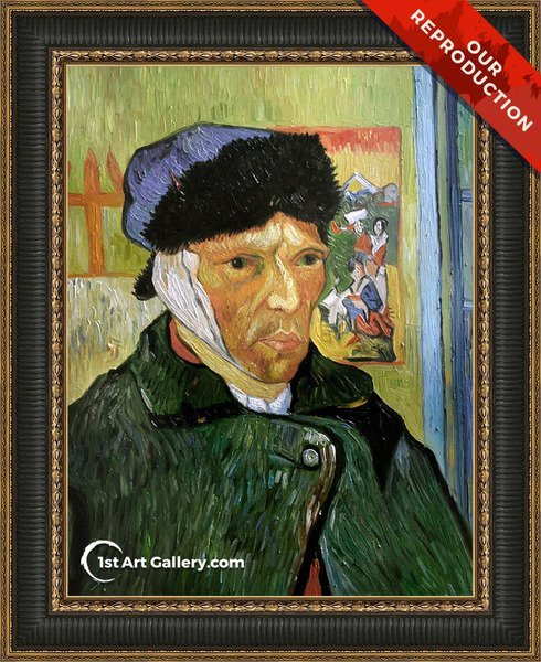 Self Portrait with Badaged Ear Painting by Vincent Van Gogh - Oil Reproduction