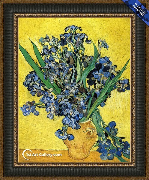 Still Life with Irises Painting by Vincent Van Gogh - Original Painting