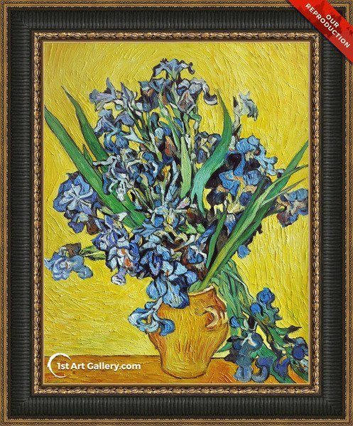 Still Life with Irises Painting by Vincent Van Gogh - Oil Reproduction