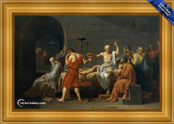 The Death of Socrates Painting by Jacques Louis David - Original Painting