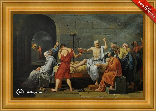 The Death of Socrates Painting by Jacques Louis David - Oil Reproduction