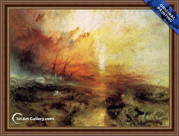 The Slave Ship Painting by Turner - Original Painting