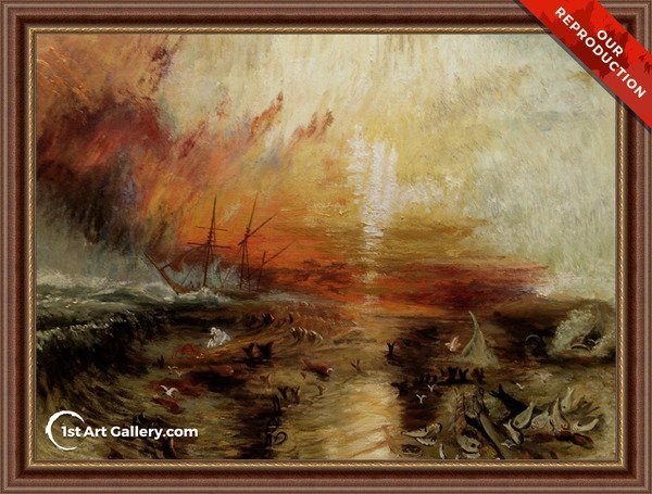 The Slave Ship Painting by Turner - Oil Reproduction