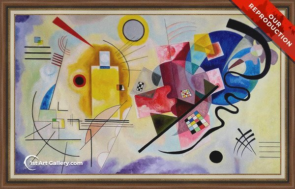 Yellow Red Blue Painting by Wassily Kandinsky - Oil Reproduction