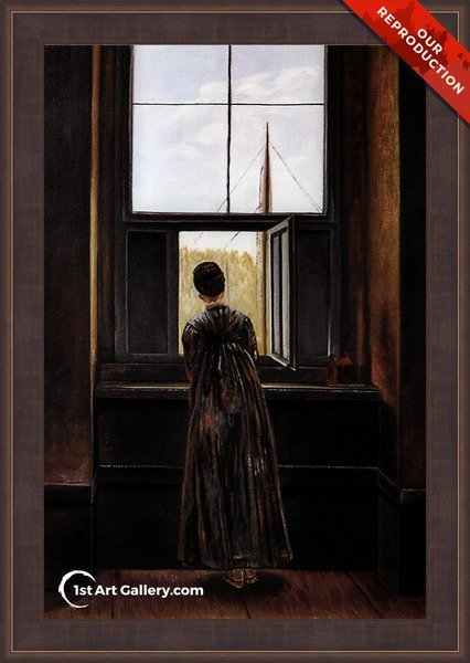 Woman at a Window Painting by Caspar David Friedrich - Oil Reproduction