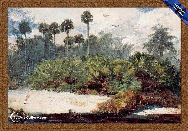 In a Florida Jungle Painting by Winslow Homer - Original Painting