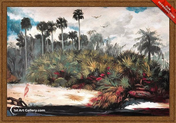 In a Florida Jungle Painting by Winslow Homer - Oil Reproduction