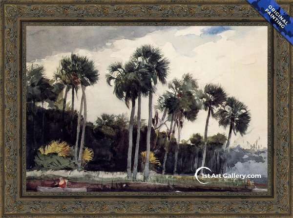 Red Shirt, Homosassa, Florida Painting by Winslow Homer - Original Painting