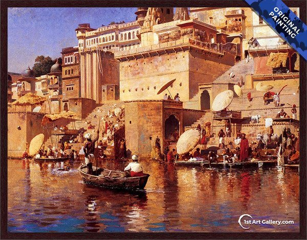On The River Benares Painting by Edwin Lord Weeks - Original Painting