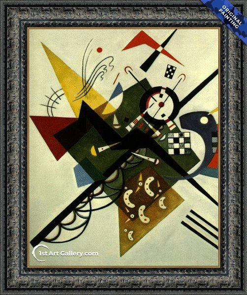 On White II Painting by Wassily Kandinsky - Original Painting