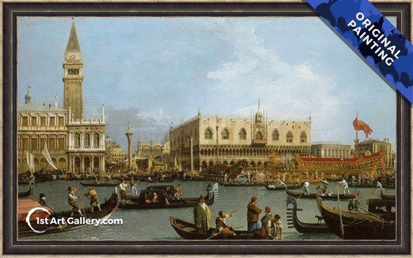 The Basin of San Marco on Ascension Day Painting - Original Painting