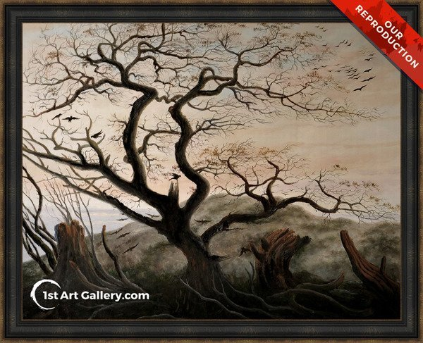 The Tree of Crows Painting - Oil Reproduction