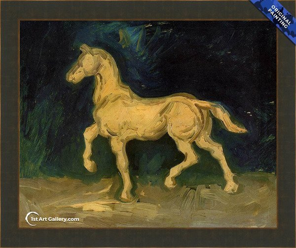 Plaster Statuette of a Horse Painting by Van Gogh - Original Painting
