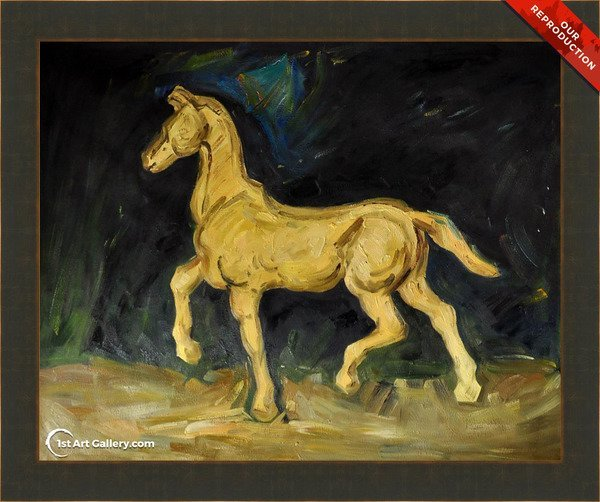 Plaster Statuette of a Horse Painting by Van Gogh - Oil Reproduction