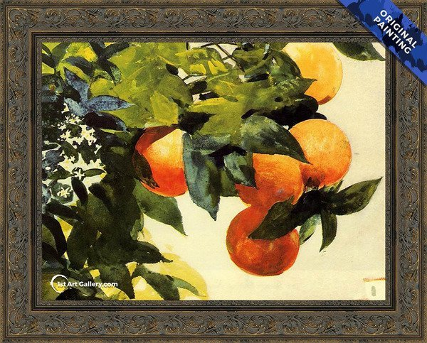 Oranges on a Branch Painting by Winslow Homer - Original Painting