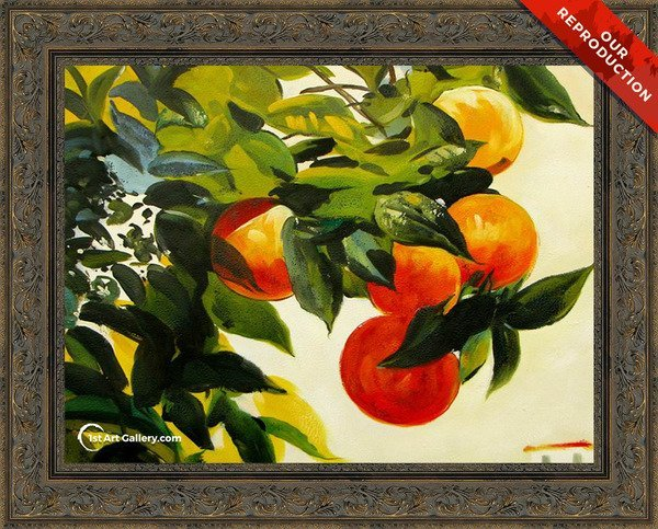 Oranges on a Branch Painting by Winslow Homer - Oil Reproduction
