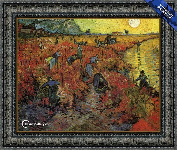The Red Vineyard Painting by Vincent Van Gogh - Original Painting