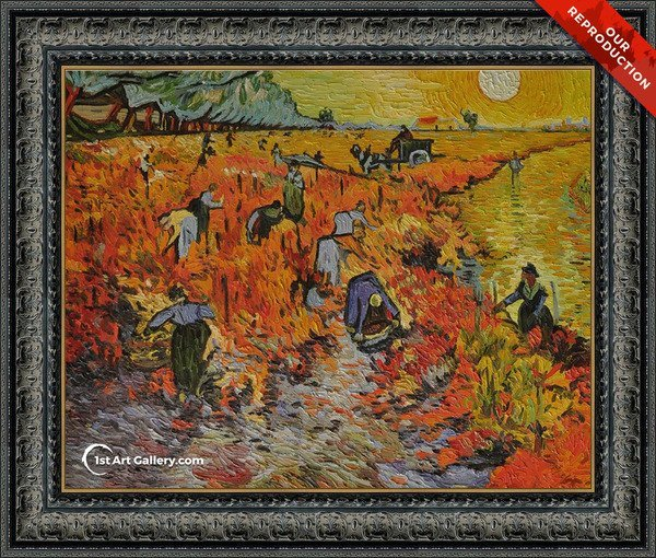 The Red Vineyard Painting by Vincent Van Gogh - Oil Reproduction