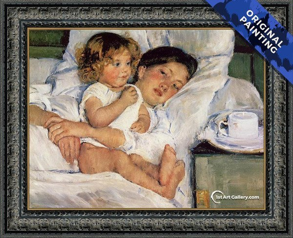 Breakfast in Bed Painting by Mary Cassatt - Original Painting