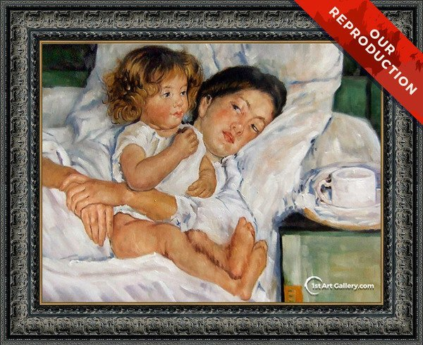 Breakfast in Bed Painting by Mary Cassatt - Oil Reproduction