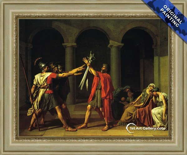 Oath of the Horatii Painting by Jacques Louis David - Original Painting