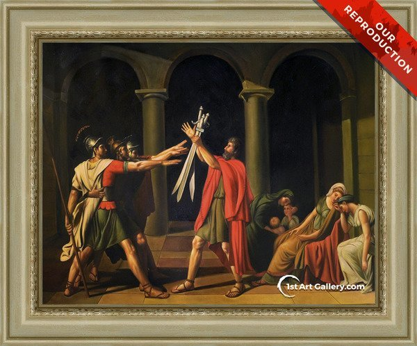 Oath of the Horatii Painting by Jacques Louis David - Oil Reproduction