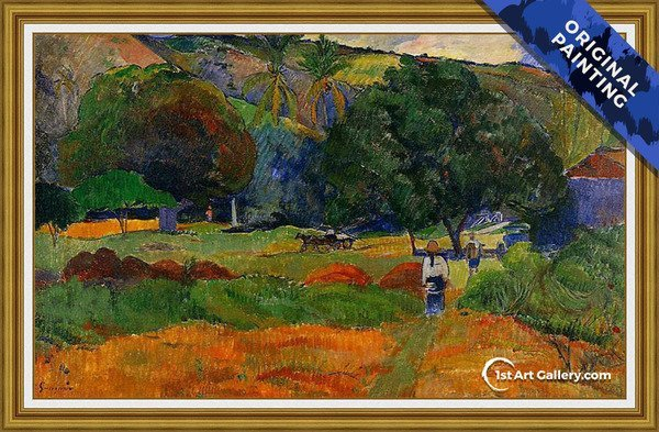 The Little Valley Painting by Paul Gauguin - Original Painting