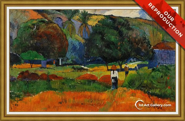 The Little Valley Painting by Paul Gauguin - Oil Reproduction