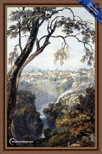 Falls of the Anio Painting by Turner - Original Painting