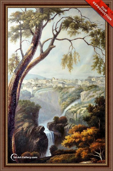 Falls of the Anio Painting by Turner - Oil Reproduction