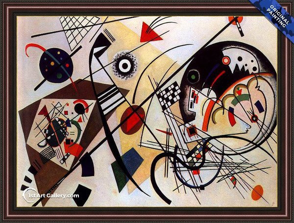 Picture With Archer Painting By Wassily Kandinsky Reproduction 1st