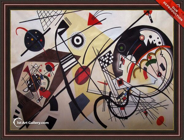Throughgoing line Painting by Wassily Kandinsky - Oil Reproduction