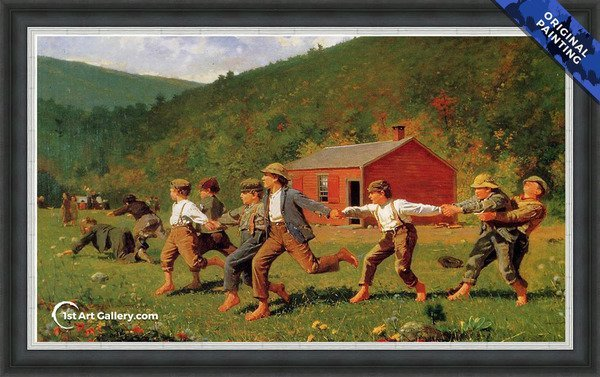 Snap the Whip I Painting by Winslow Homer - Original Painting
