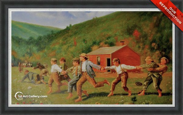 Snap the Whip I Painting by Winslow Homer - Oil Reproduction