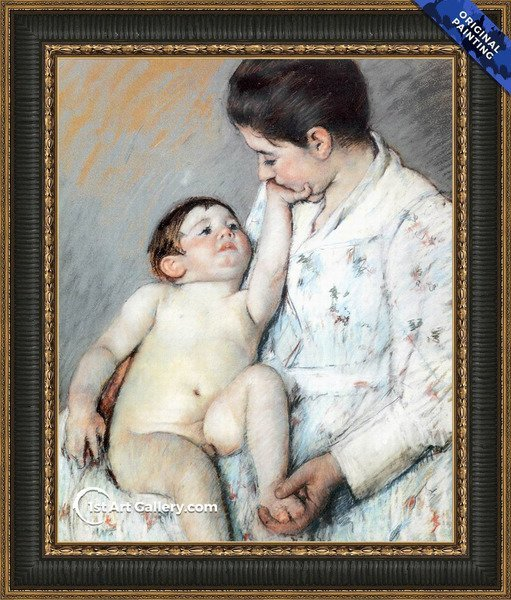 Baby's First Caress Painting by Mary Cassatt - Original Painting