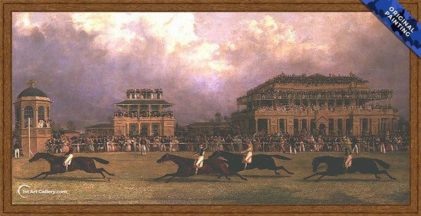 The Doncaster Gold Cup of 1838 Painting by John Frederick Herring Snr - Original Painting