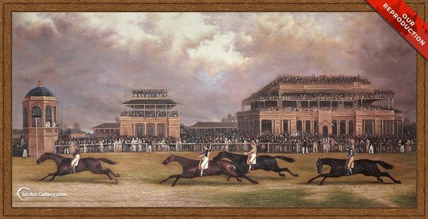 The Doncaster Gold Cup of 1838 Painting by John Frederick Herring Snr - Oil Reproduction