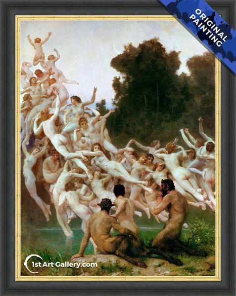 Les Oreades Painting by William-Adolphe Bouguereau - Original Painting