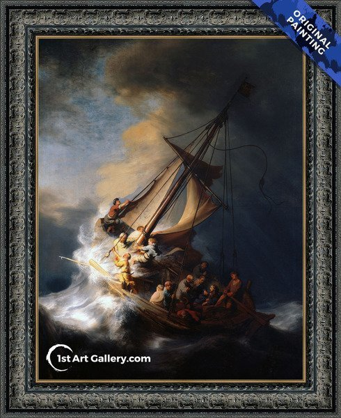 Christ In The Storm On The Sea Of Galilee Painting by Rembrandt Van Rijn - Original Painting